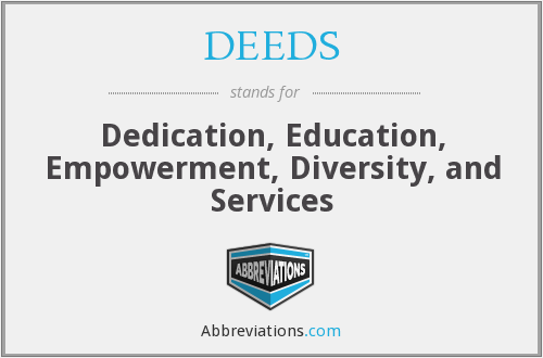 What does DEEDS stand for?
