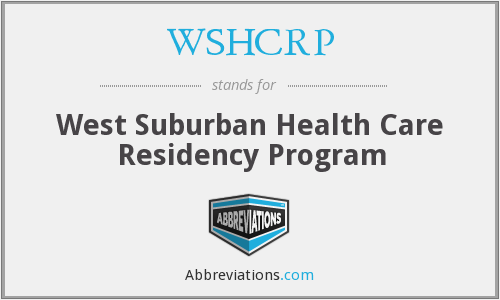 WSHCRP - West Suburban Health Care Residency Program
