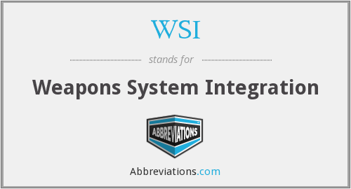 WSI - Weapons System Integration