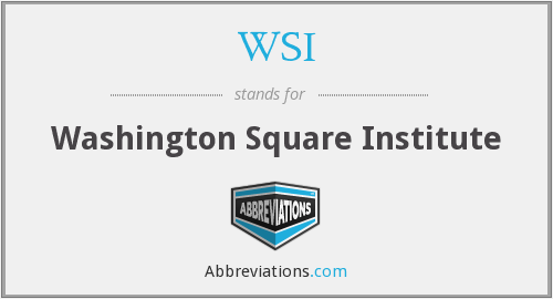 WSI - Washington Square Institute