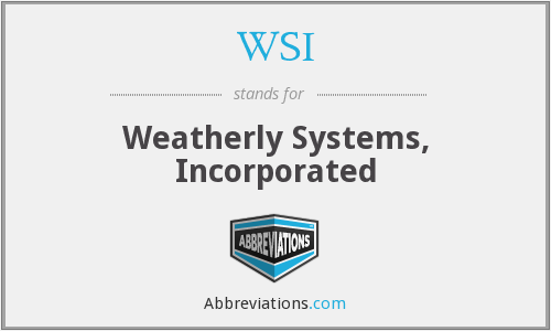 WSI - Weatherly Systems, Inc.