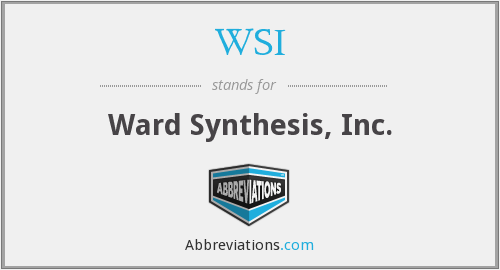 WSI - Ward Synthesis, Inc.