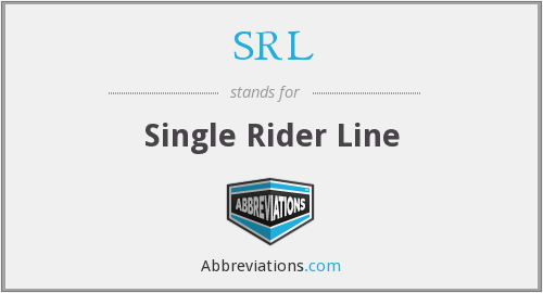 SRL - Single Rider Line