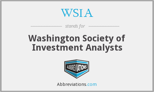WSIA - Washington Society of Investment Analysts