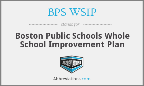 What does BPS WSIP stand for?