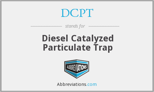 DCPT - Diesel Catalyzed Particulate Trap