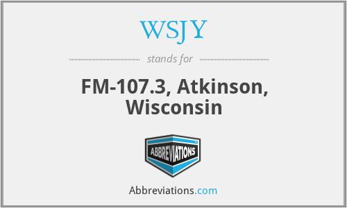WSJY - FM-107.3, Atkinson, Wisconsin