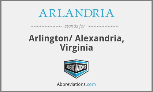 ARLANDRIA - Arlington/ Alexandria, Virginia