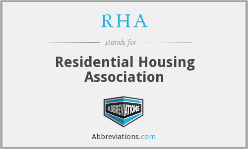 RHA - Residential Housing Association