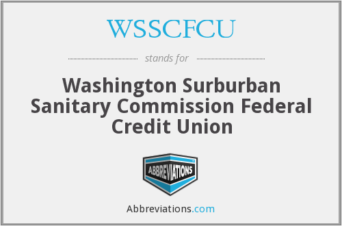 What does WSSCFCU stand for?