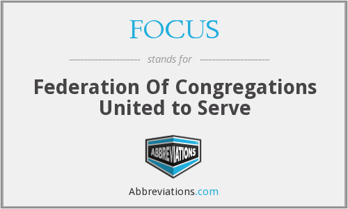FOCUS - Federation Of Congregations United to Serve