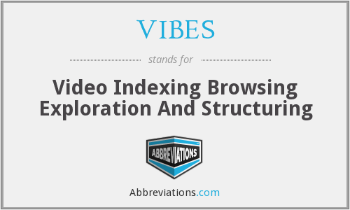 VIBES - Video Indexing Browsing Exploration And Structuring