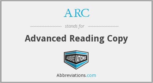 ARC - Advanced Reading Copy