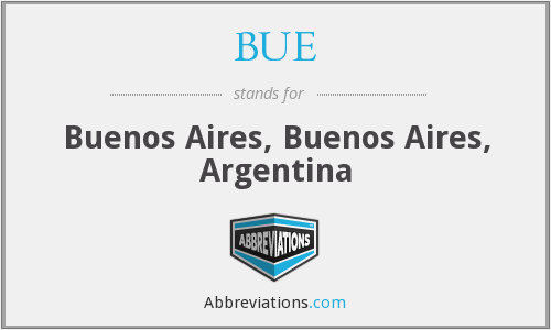 BUE - Buenos Aires, Buenos Aires, Argentina