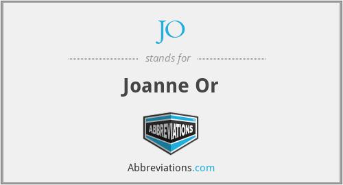 JO - Joanne Or