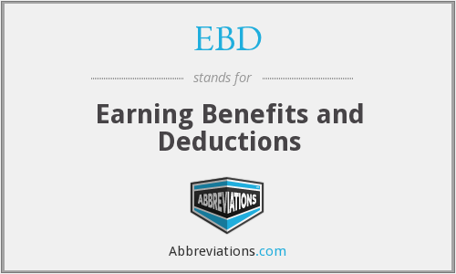 EBD - Earning Benefits and Deductions