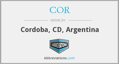COR - Cordoba, CD, Argentina