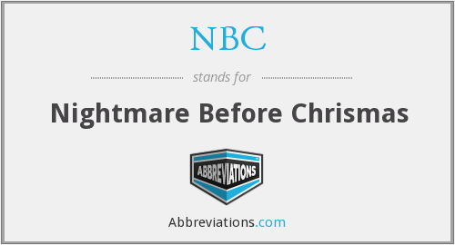 NBC - Nightmare Before Chrismas