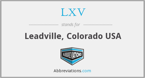 What does LXV stand for?