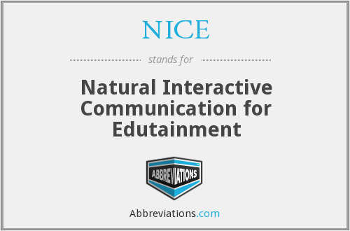 NICE - Natural Interactive Communication for Edutainment