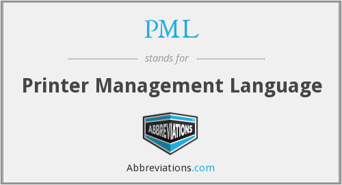 PML - Printer Management Language