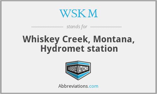 WSKM - Whiskey Creek, Montana, Hydromet station