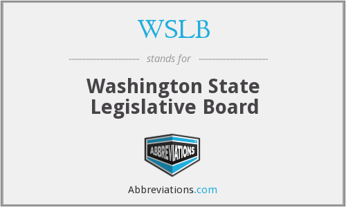 WSLB - Washington State Legislative Board