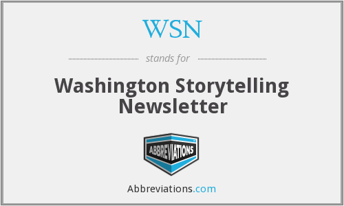 WSN - Washington Storytelling Newsletter