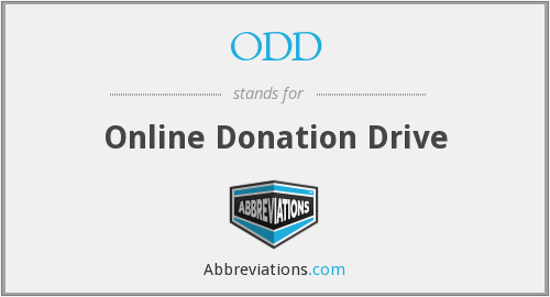 ODD - Online Donation Drive