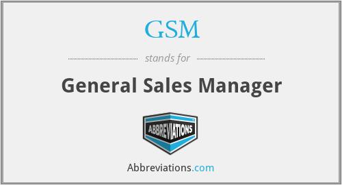 GSM - General Sales Manager