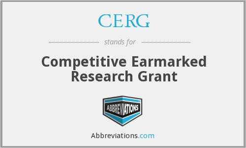 CERG - Competitive Earmarked Research Grant