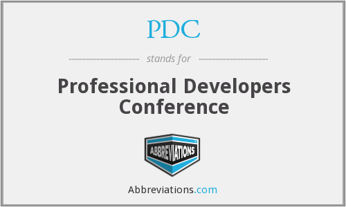 PDC - Professional Developers Conference