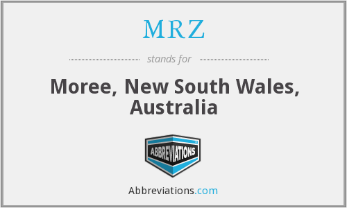 MRZ - Moree, New South Wales, Australia