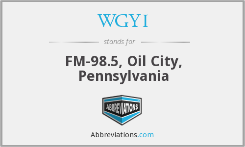 WGYI - FM-98.5, Oil City, Pennsylvania