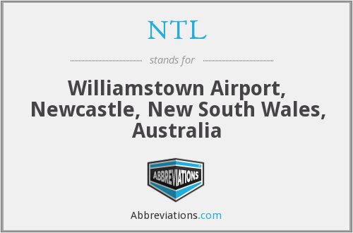NTL - Williamstown Airport, Newcastle, New South Wales, Australia