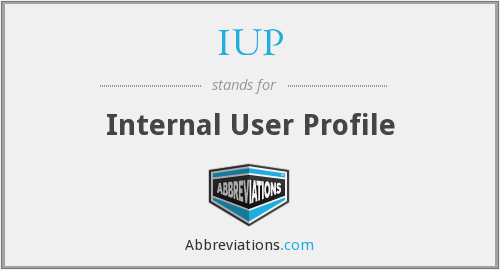 IUP - Internal User Profile