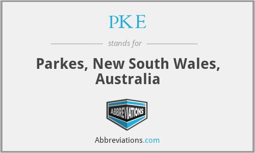 PKE - Parkes, New South Wales, Australia