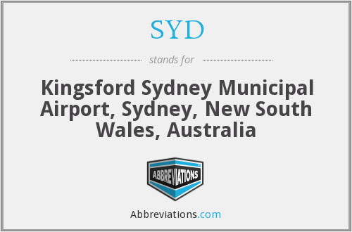 SYD - Kingsford Sydney Municipal Airport, Sydney, New South Wales, Australia