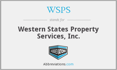 WSPS - Western States Property Services, Inc.