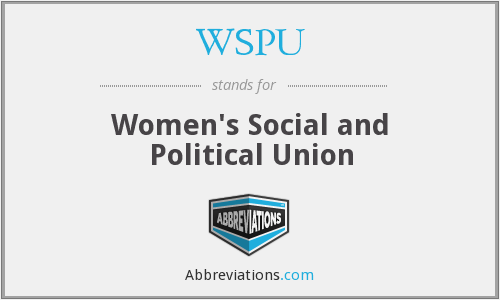 What does WSPU stand for?