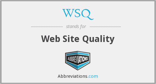 WSQ - Web Site Quality