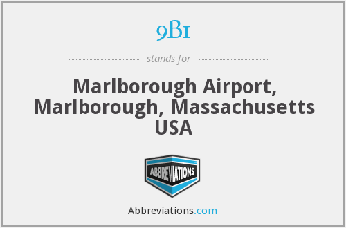 9B1 - Marlborough Airport, Marlborough, Massachusetts USA