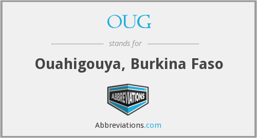 OUG - Ouahigouya, Burkina Faso