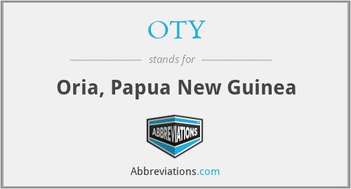 OTY - Oria, Papua New Guinea