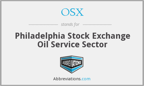 OSX - Philadelphia Stock Exchange Oil Service Sector