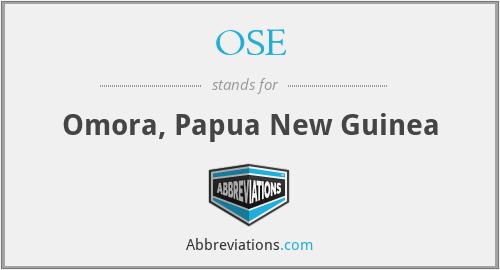 OSE - Omora, Papua New Guinea