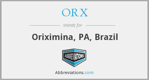 What does ORX stand for?