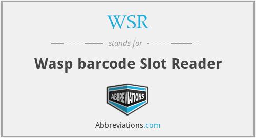 WSR - Wasp barcode Slot Reader
