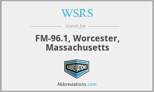 WSRS - FM-96.1, Worcester, Massachusetts