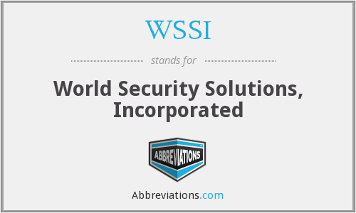 WSSI - World Security Solutions, Incorporated